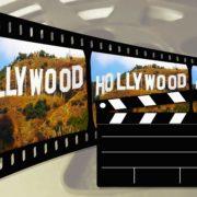 Negativfilm mit Hollywoodschrift